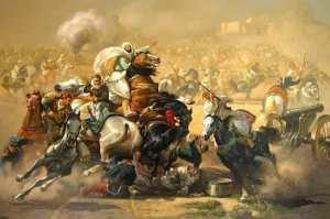 Splendide illustration de la bataille de Sidi Brahim par Hocine Ziani