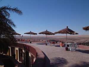 Les terrasses de l'hôtel Gourara- Timimoun