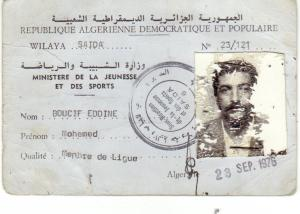 carte de membre de ligue de mohamed boucif