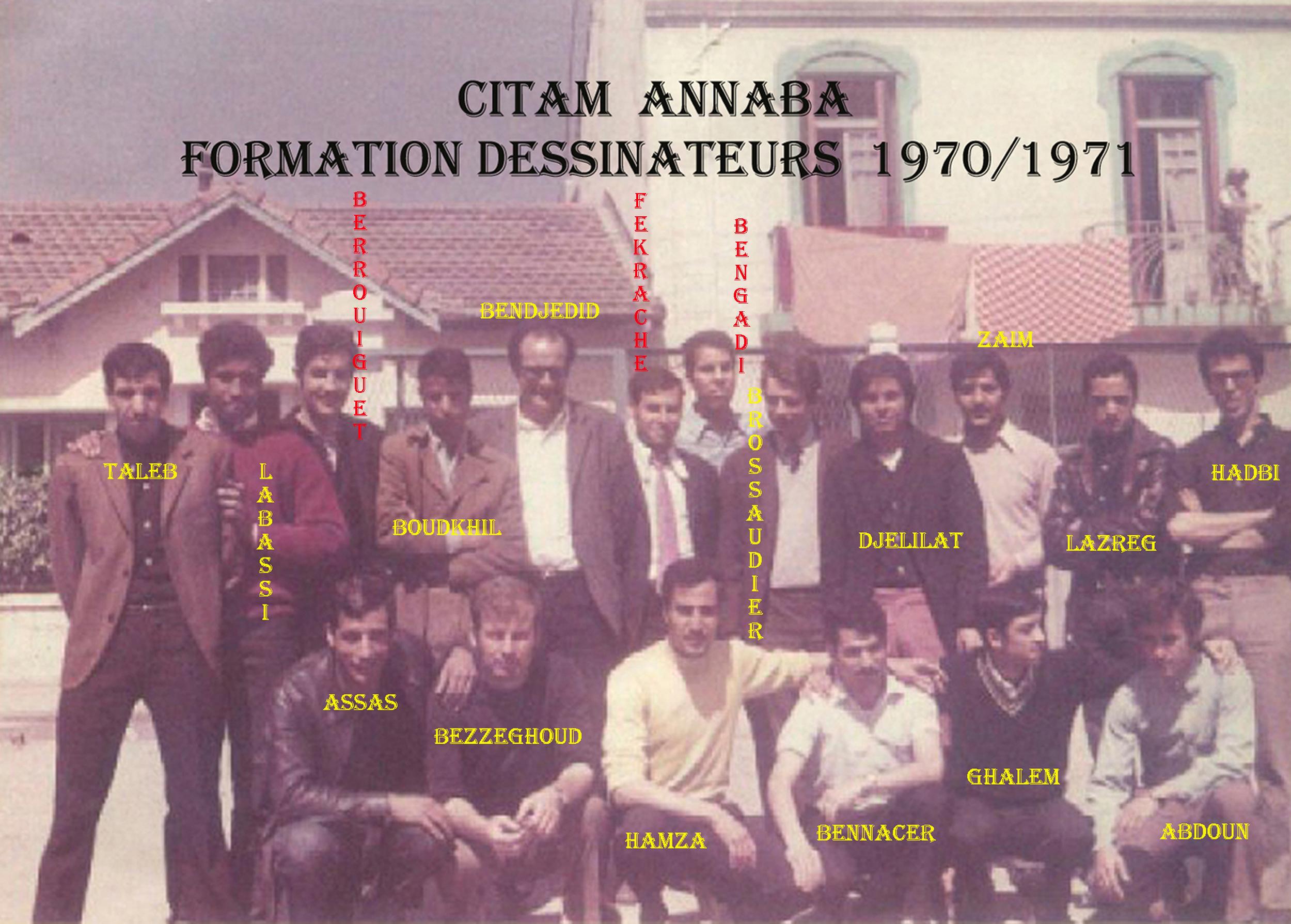 ANNABA---CITAM--FORMATION DESSINATEURS--