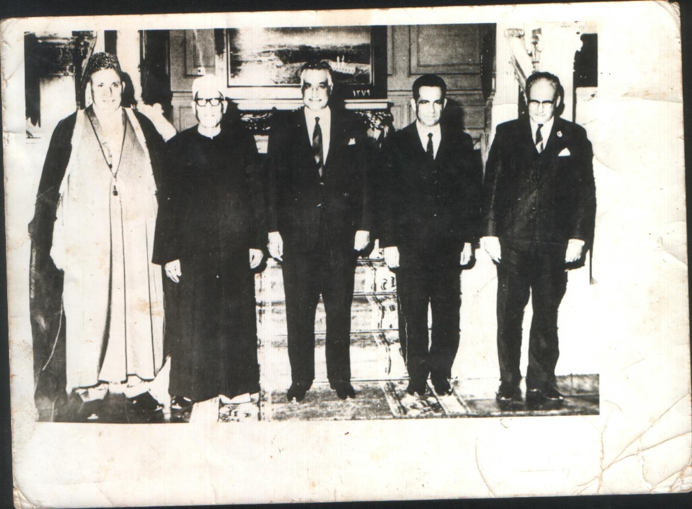 el mehdi bouabdelli(a gauche),avec gamal abdenasser et malek bennabi a droite)