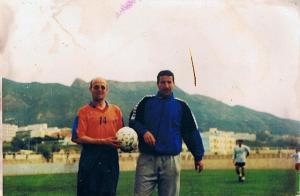 avec Ait mouloud Noureddine,entraineur de la JSMBéjaia