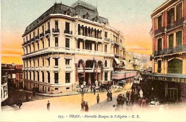 Oran boulevard s guin et la banque d 39 alg rie p riode for Banque exterieur d algerie