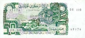 Billet de 50 Dinars 01 Novembre 1977