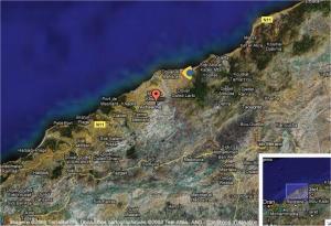 Carte de la région de Achaacha