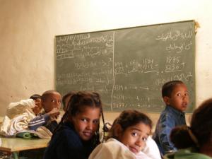 Classe de l'école primaire Bir Lehlou / Smara / Wilaya de Tindouf