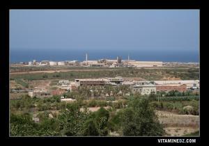 صورة للمنطقة الصناعية لمدينة مستغانم مأخوذة من مزغران