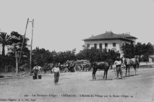 مدخل قرية الشراڨة قدوما من الجزائر العاصمة (الفترة الإستعمارية)