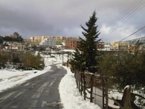 مدينة بوراوي بلهادف تحت الثلوج