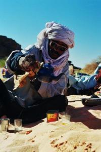 تحضير الشاي في طاسيلي الهڨار