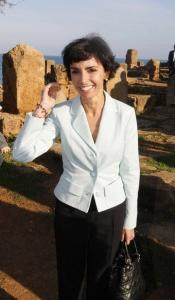 France's Justice Minister Rachida Dati visits the archeological site