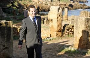 TIPAZA, ALGERIA - DECEMBER 4: France's President Nicolas Sarkozy