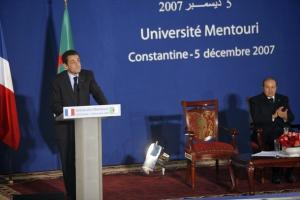 CONSTANTINE, ALGERIA - DECEMBER 5: The French President