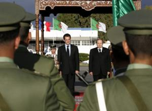 France's President Nicolas Sarkozy and his Algerian counterpart Abdelaziz
