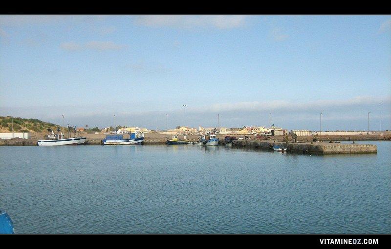صورة من ميناء الصيد البحري بجوار شاطئ ال&#16