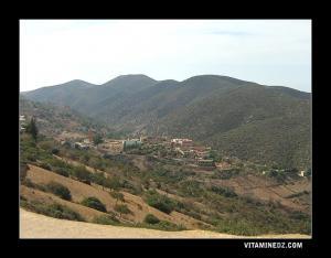 قرية أولاد سيدي بن عمار بالقرب من جبل الڨولية