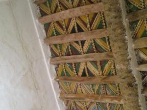 السقف المنقوش للزاوية التيجانية