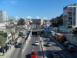 Trémie au centre ville d'Alger