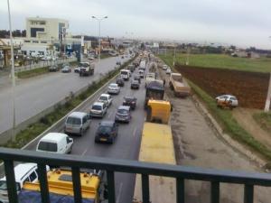 Encombrement sur voie express à Reghaia (Alger)