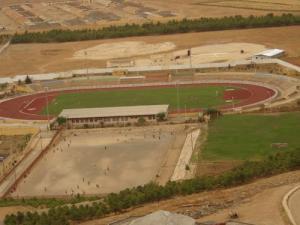 Vue extérieure du Stade de Djelfa