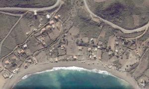 صورة فضائية لشاطئ بوليمات (ولاية بجاية)