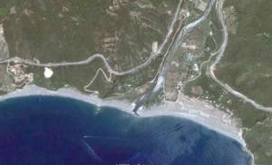 صورة فضائية لشاطئ واد داس (ولاية بجاية)