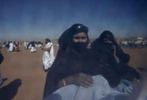 Sahrawi women attend a demonstration as part of the