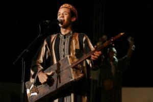 Abdelhak Ben Medjbar of Algeria performs during the Alger