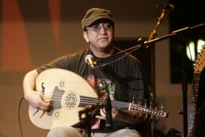 A member of Fantazia from Algeria troop performs during