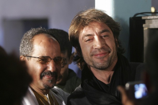 Spanish actor Javier Bardem and Polisario Front President Mohamed