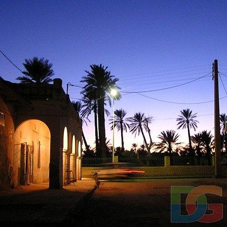 صورة ليلية لمدينة أولاد جلال (ولاية بسكرة)
