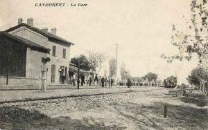محطة السكة الحديدية لمدينة أم البواڨي في الفترة الإستعمارية