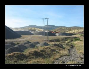 محطة استخراج الحصى قرب قرية