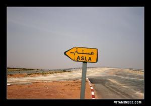 مدخل بلدية العسلة على الطريق المؤدي إلى ولاية بشار