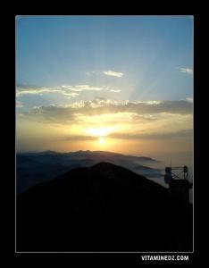 غروب الشمس على قمة يمة ڨوراية