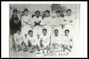 صورة قديمة لفريق كرة القدم لمدينة بشار