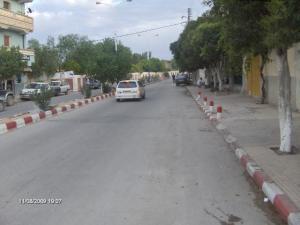 الشارع الرئيسي لقرية وادي سڨين