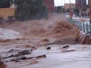 صورة لفيضان وادي بشار
