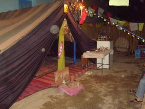 مدخل خيمة من الطراز الصحراوي ببلدية لمروج