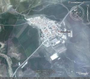 صورة فضائية من قرية فم طوب