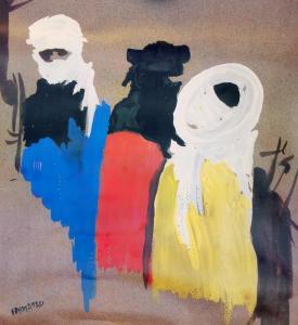 لوحة فنية من الفلكلور الصحراوي