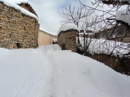 Bouzelatène sous la neige