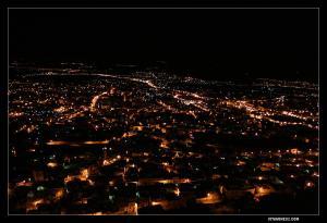 منظر ليلي لمدينة تلمسان