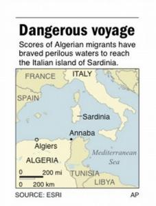 ADVANCE FOR NOV. 9; map locates Annaba, Algeria;. AP Photo