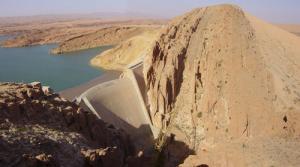 Digue du barrage de Brézina