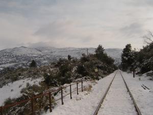 منظر خلاب لبلدية أمال تحت الثلوج
