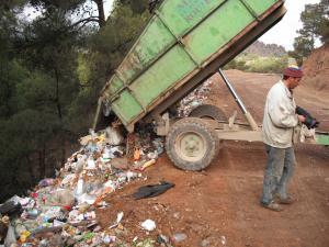 تخريب الطبيعة ببلدية بوخضرة