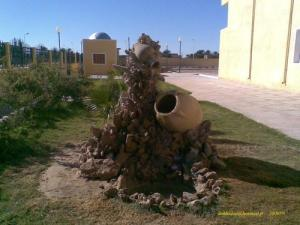 Architecture à l'entrée d'un lycée d'El Oued