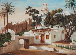 لوحة فنية لضريح عبد الرحمان الثعلبي