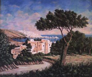 لوحة فنية لساحل الجزائر العاصمة في القرن الثامن عشر